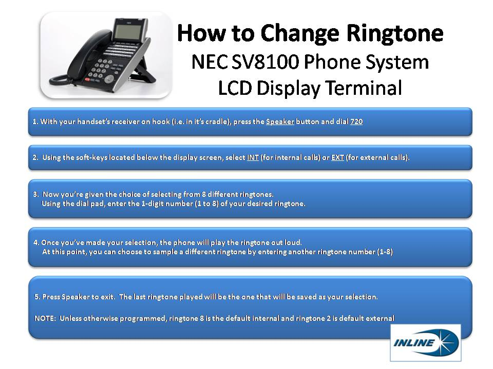 image with steps to change ringtone